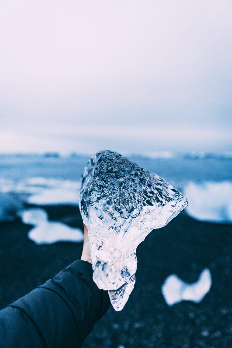 Gletscher Eis klar durchsichtig