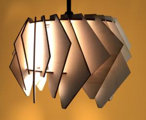 Holzlampe zum stecken von eecodesign